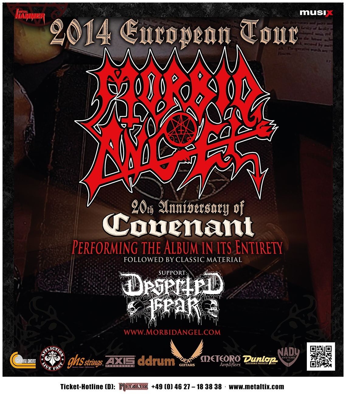 MORBID ANGEL Covenant TourposterA1 2014