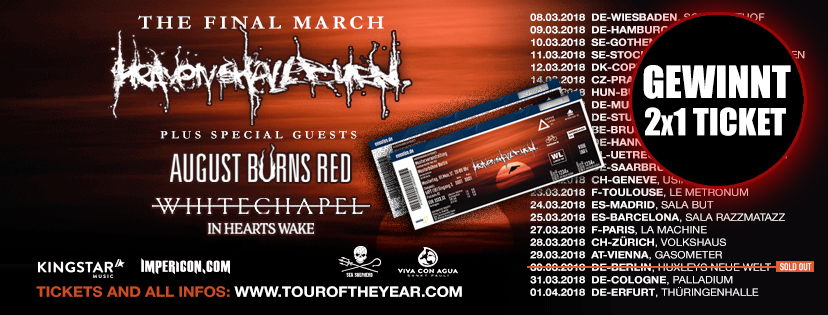 twilight haven shall burn tour 2018 hannover verlosung2