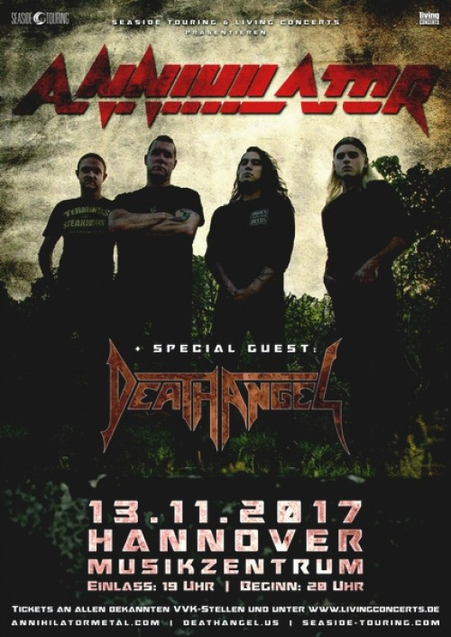 Annihilator, Death Angel  - Musikzentrum Hannover