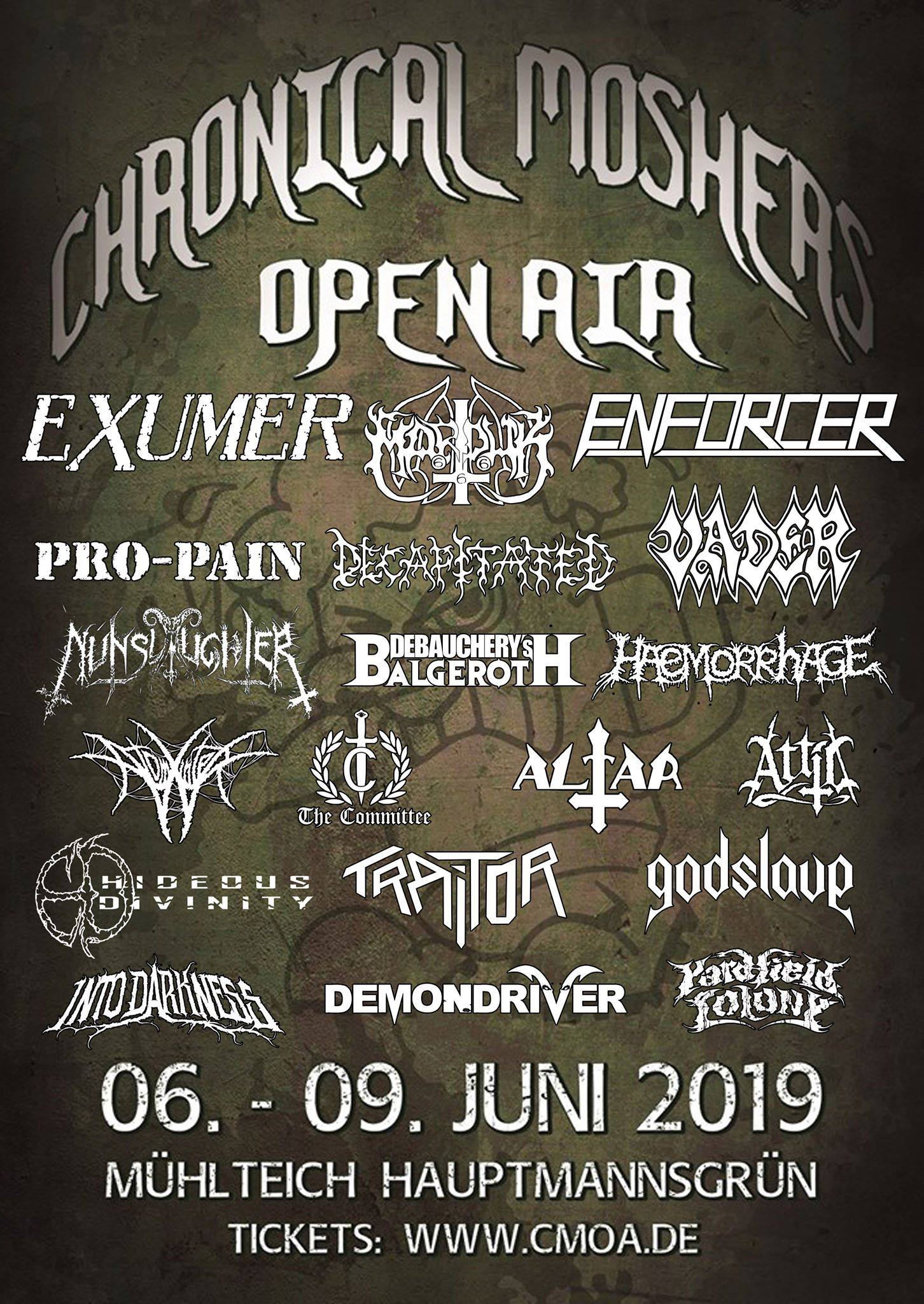 Chronicle Moshers Open Air