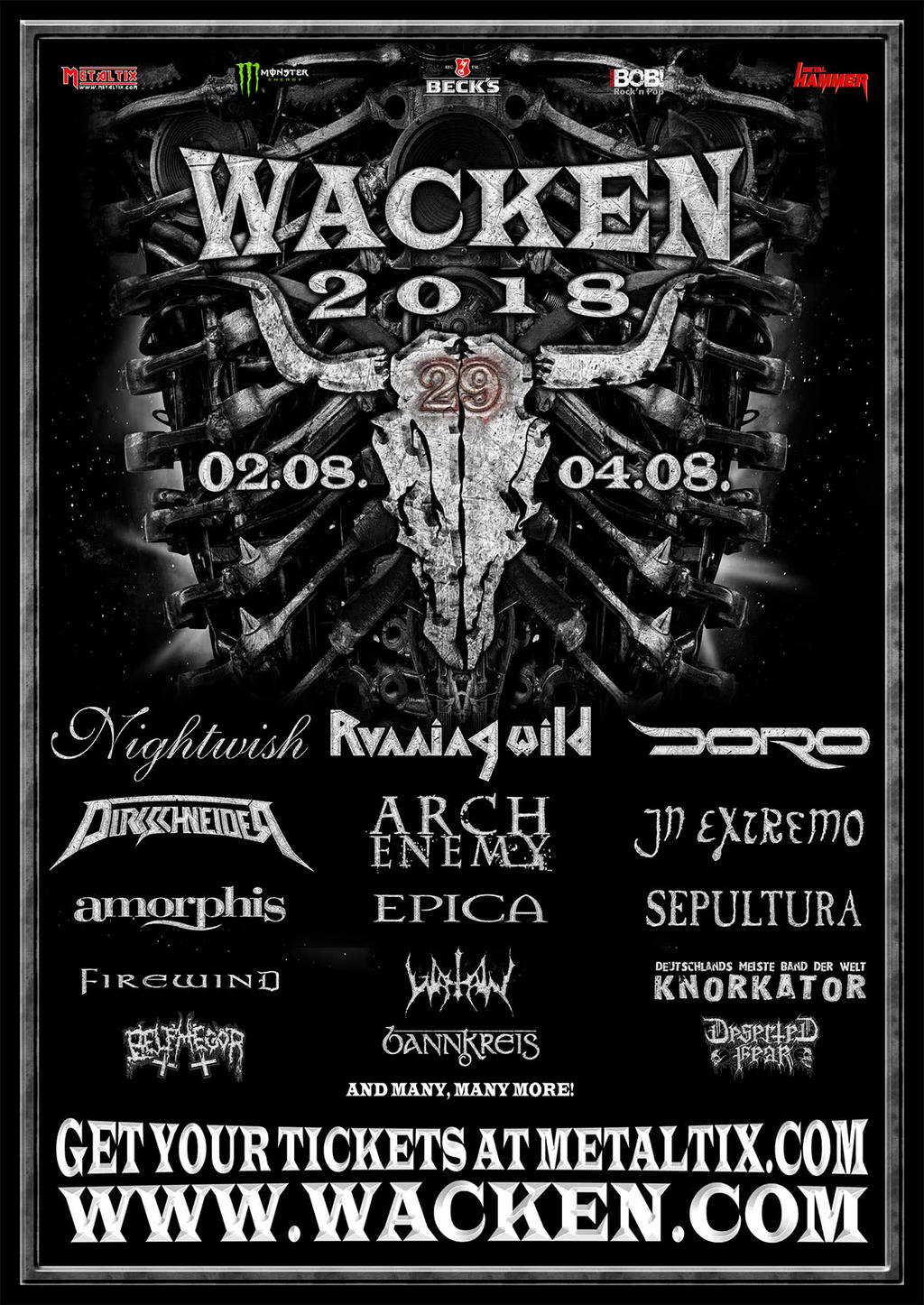 Wacken Open Air Flyer 2018