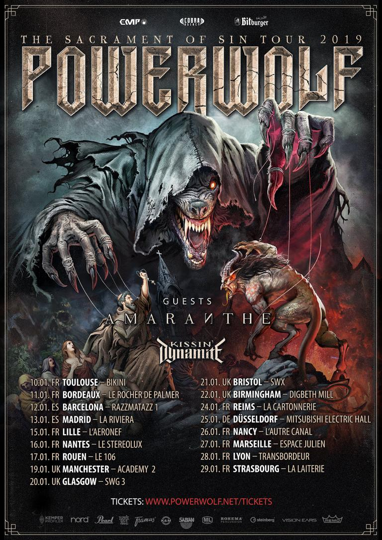 powerwolf tour 2019