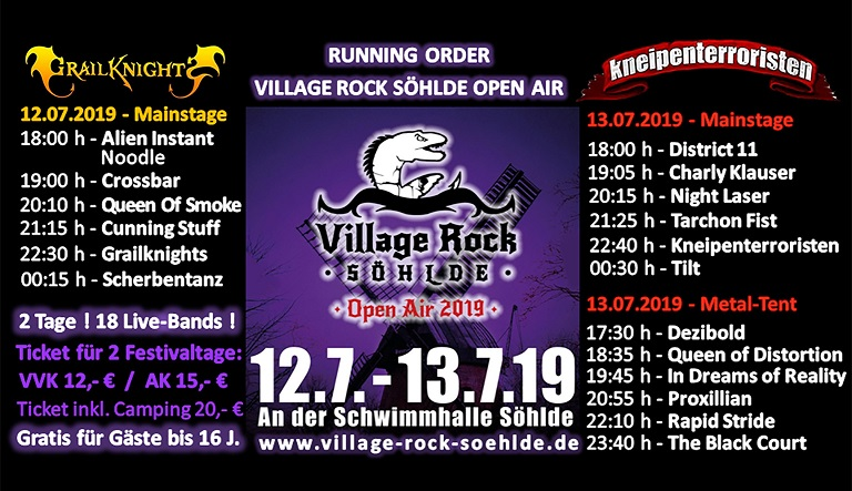 Village Rock Söhlde Running Order kl