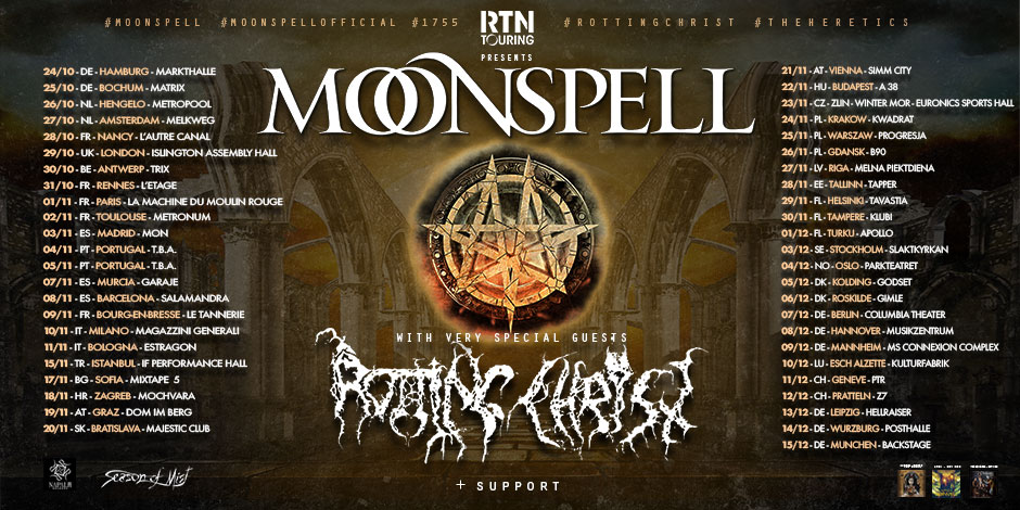 tour moonspell und rotting christ 2019