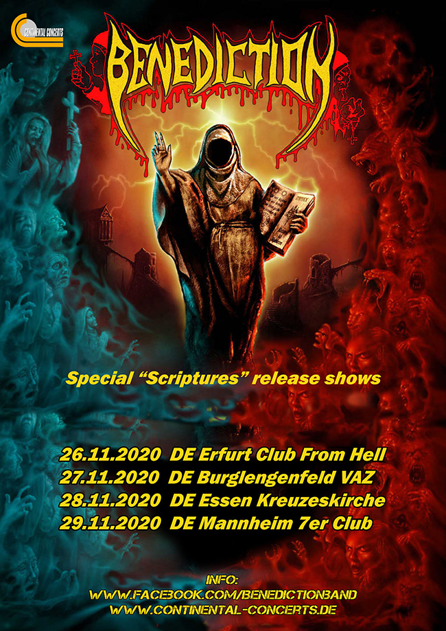 Benediction November Dates 2020 CD Release Party