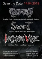 Save the Date Vol. 4 – Revel in Flesh, Saxnot, Insidious Voice