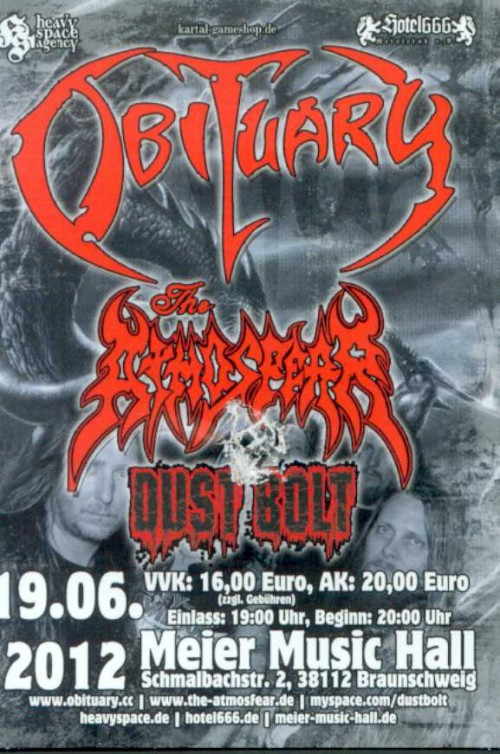 Obituary - Dust Bolt - The Atmosfear